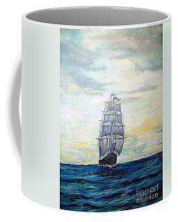Coffee Mug featuring the painting Morning Light On The Atlantic by Lee Piper