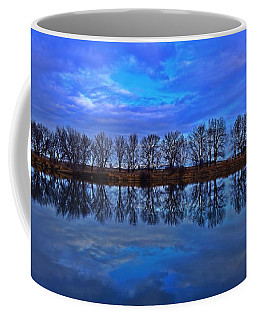 Coffee Mug featuring the photograph Blue Morning Reflection by Lynn Hopwood