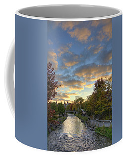 Coffee Mug featuring the photograph Morning Sky On The Fox River by Daniel Sheldon