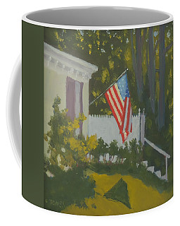Morning Sun On Old Glory - Art By Bill Tomsa Coffee Mug