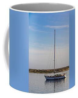 Sailboat At Anchor In Morro Bay Coffee Mug