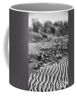 Morro Beach Textures Bw Coffee Mug by Terry Garvin