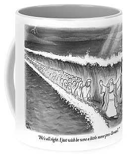 Moses Parting The Sea Coffee Mug