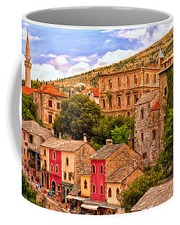 Coffee Mug featuring the painting Mostar by Michael Pickett