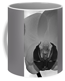 Coffee Mug featuring the photograph Moth Orchid Bw by Ron White