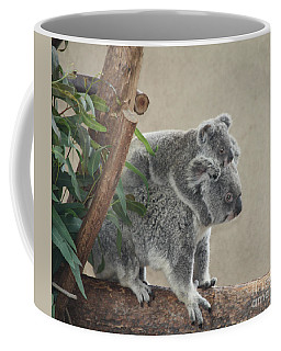 Coffee Mug featuring the photograph Mother And Child Koalas by John Telfer