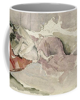 Mother And Child On A Couch Coffee Mug