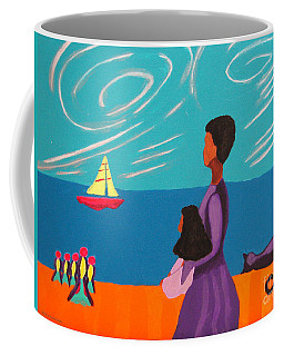 Mother And Daughter Coffee Mug by Anita Lewis