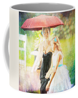 Mother And Daughter In The Garden Coffee Mug