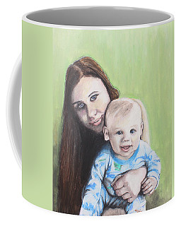 Mother And Son Coffee Mug by Jeanne Fischer