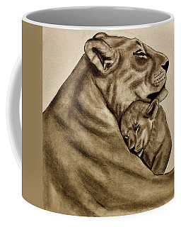 Mother And Son Coffee Mug by Michael Cross