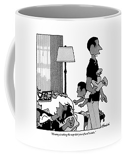 Mother On Sofa Coffee Mug
