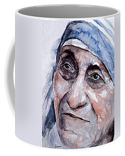 Mother Theresa Watercolor Coffee Mug by Laur Iduc