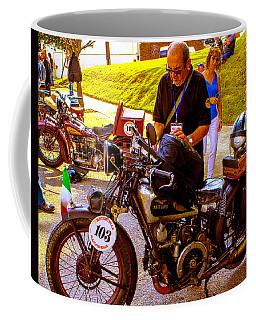 Moto Guzzi At Cannonball Motorcycle Coffee Mug