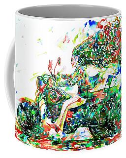 Motor Demon Running Fast Coffee Mug