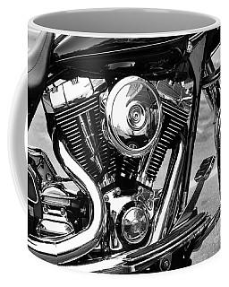 Motorcycle Engine Black And White Coffee Mug