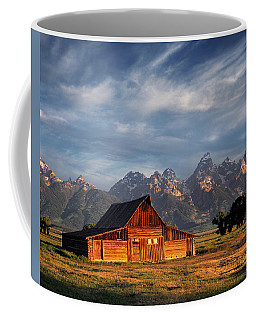 Moulton Barn Morning Light Coffee Mug by Leland D Howard