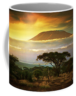 Mount Kilimanjaro Savanna In Amboseli Kenya Coffee Mug