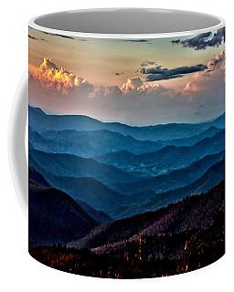 Mount Mitchell Sunset Coffee Mug by John Haldane
