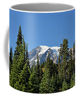 Mount Rainier Evergreens Coffee Mug