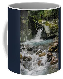 Mount Rainier Falls Coffee Mug by John Haldane