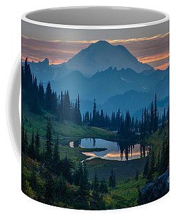 Mount Rainier Layers Coffee Mug by Mike Reid
