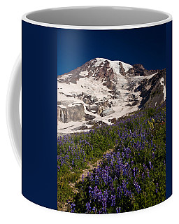 Mount Rainier Wildflower Meadows Coffee Mug