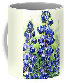 Coffee Mug featuring the painting Mountain Blues Lupine Study by Barbara Jewell