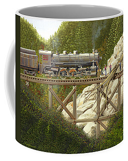Coffee Mug featuring the painting Mountain Impasse by Gary Giacomelli