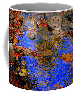 Mountain Stream Covered With Fall Leaves Coffee Mug