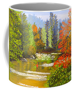 Coffee Mug featuring the painting Mountain Stream by Pamela  Meredith