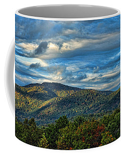 Coffee Mug featuring the photograph Mountain View by Kenny Francis
