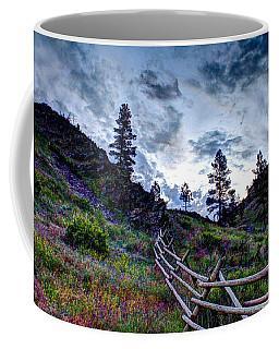 Mountain Wooden Fence  Coffee Mug