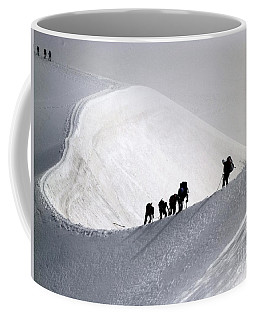 Mountaineers To Conquer Mont Blanc Coffee Mug