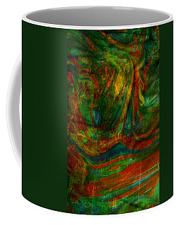 Coffee Mug featuring the mixed media Mountains In The Rain by Ally  White