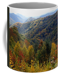 Mountains Leaves Coffee Mug