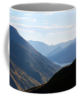 Coffee Mug featuring the photograph Mountains Meet Lake #3 by Stuart Litoff