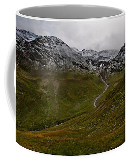 Mountainscape With Snow Coffee Mug