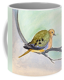 Coffee Mug featuring the painting Mourning Dove by Katherine Miller