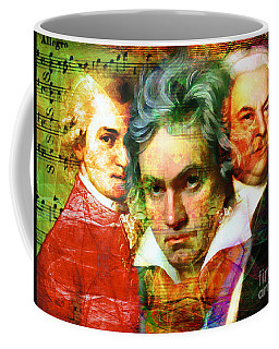 Mozart Beethoven Bach 20140128 Coffee Mug
