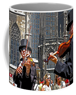 Mozart In Masquerade Coffee Mug by Ann Horn
