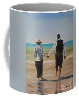 Mr. Carson And Mrs. Hughes Coffee Mug by Bev Conover