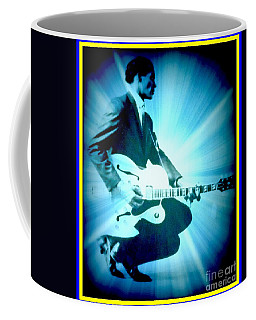 Mr Chuck Berry Blueberry Hill Style Edited Coffee Mug by Kelly Awad