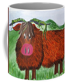 Mr Highland Cow 2 Coffee Mug