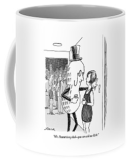 Mr. Peanut Tries To Pick Up A Woman At A Cocktail Coffee Mug
