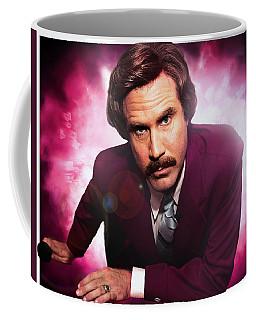 Mr. Ron Mr. Ron Burgundy From Anchorman Coffee Mug