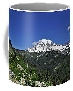 Mt Rainier Between The Valley Coffee Mug