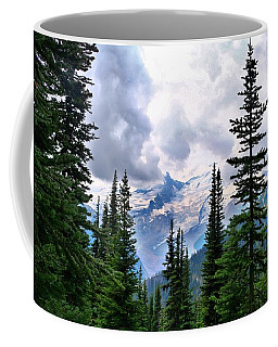Coffee Mug featuring the photograph Mt Rainier by Lynn Hopwood