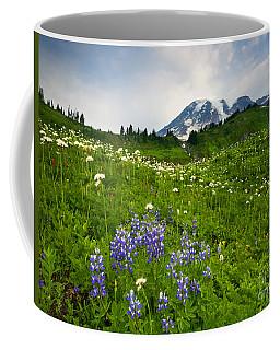 Mt. Rainier Wildflower Profusion Coffee Mug