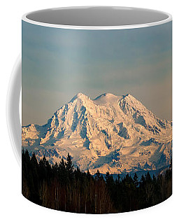 Mt Rainier Winter Panorama Coffee Mug